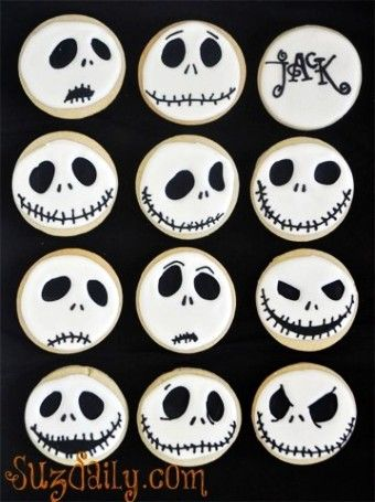 2015 Halloween nightmare before Christmas cupcakes of Jack with different expression - LoveItSoMuch.com