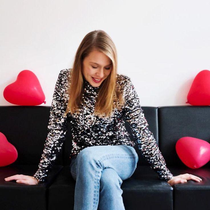 sequins & denim by Katja Schweitzberger