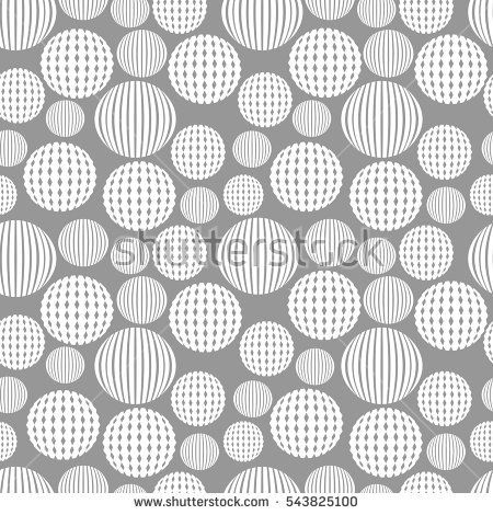 Abstract seamless pattern with textured circles. Vector illustration.