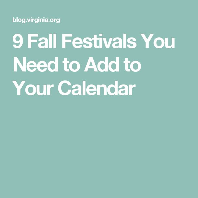 9 Fall Festivals You Need to Add to Your Calendar