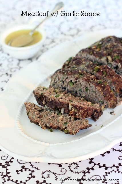 Ina Garten's 1770 House Meatloaf with Garlic Sauce | Cinnamon Spice & Everything Nice