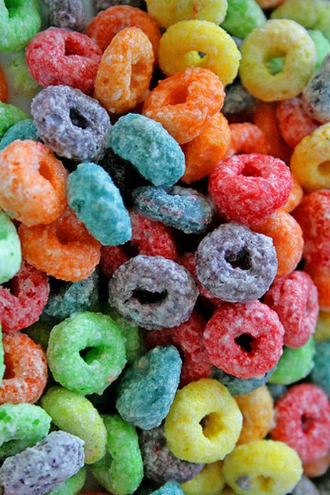 Fruit Loops, have been known to eat an entire box in one sitting. Like today. They are one of my favorite cereals. YOLO.
