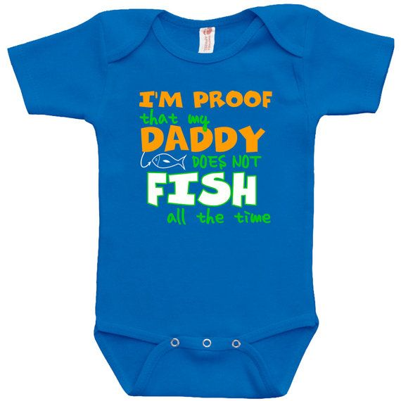 Funny Baby Clothes Baby Bodysuit Fishing Shirt by DynamiteTees, $17.99