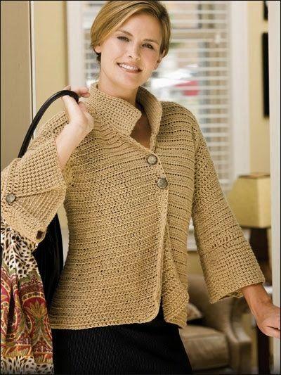 Letras e Artes da Lalá: Blusas de crochê (pinterest.com - sem receitas)