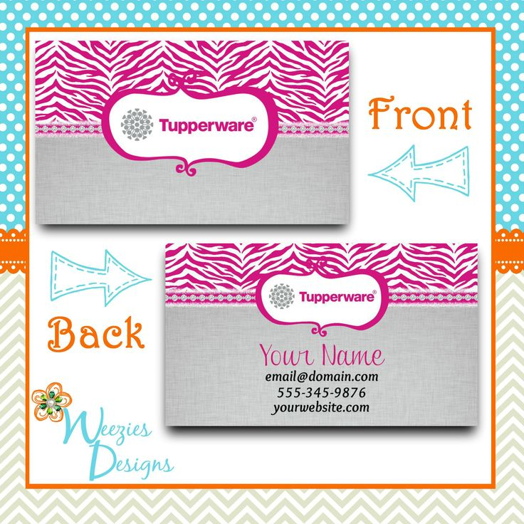 Facebook https wwwfacebookcom weeziesdesigns for Tupperware business card templates