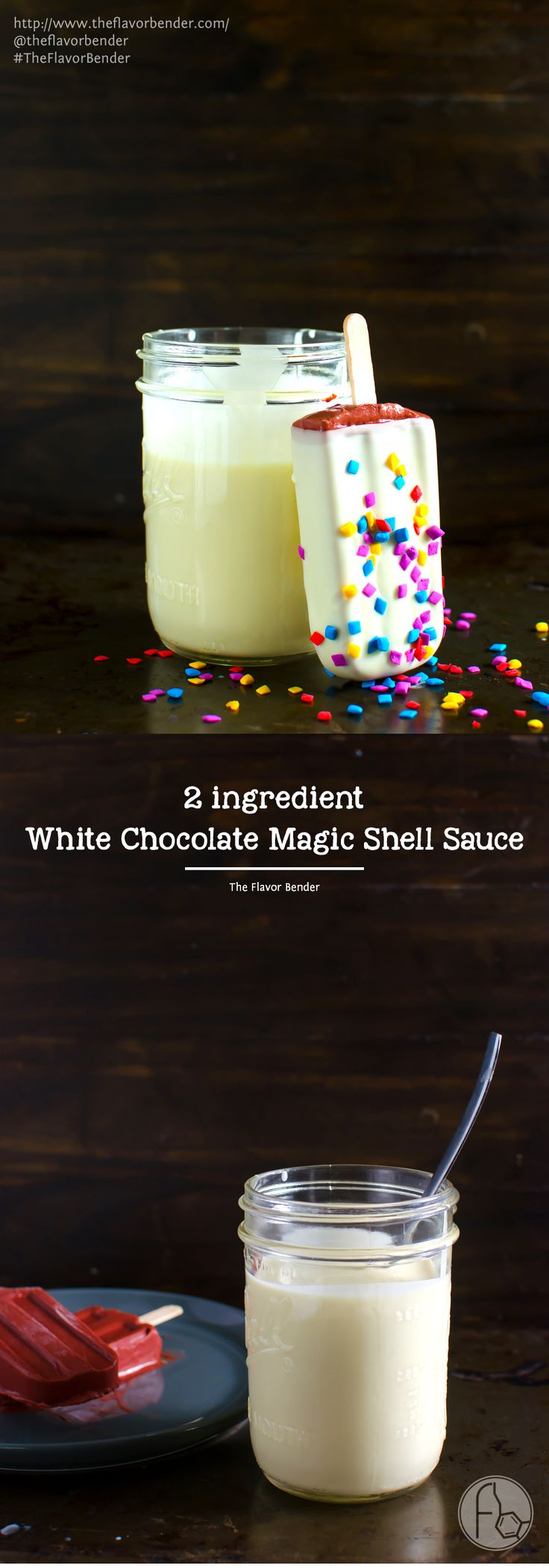 White Chocolate Magic Shell Sauce -Two ingredients, and one minute are all you need to make this easy White Chocolate Magic Shell…