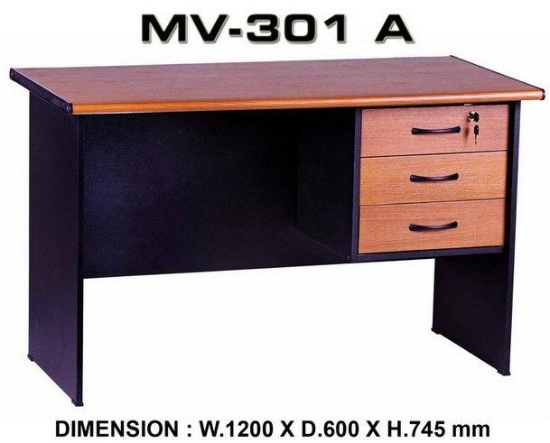 Meja Kantor Uk.120 x 60 x 73 + Laci Gantung Rp.483.000  Hubungi Shine Furniture https://www.shineofficefurniture.com/