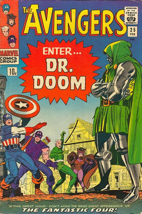 """""""I am Dr. Doom, and I daresay, Captain America, that you and your new comrades are not a fantastic four!"""""""