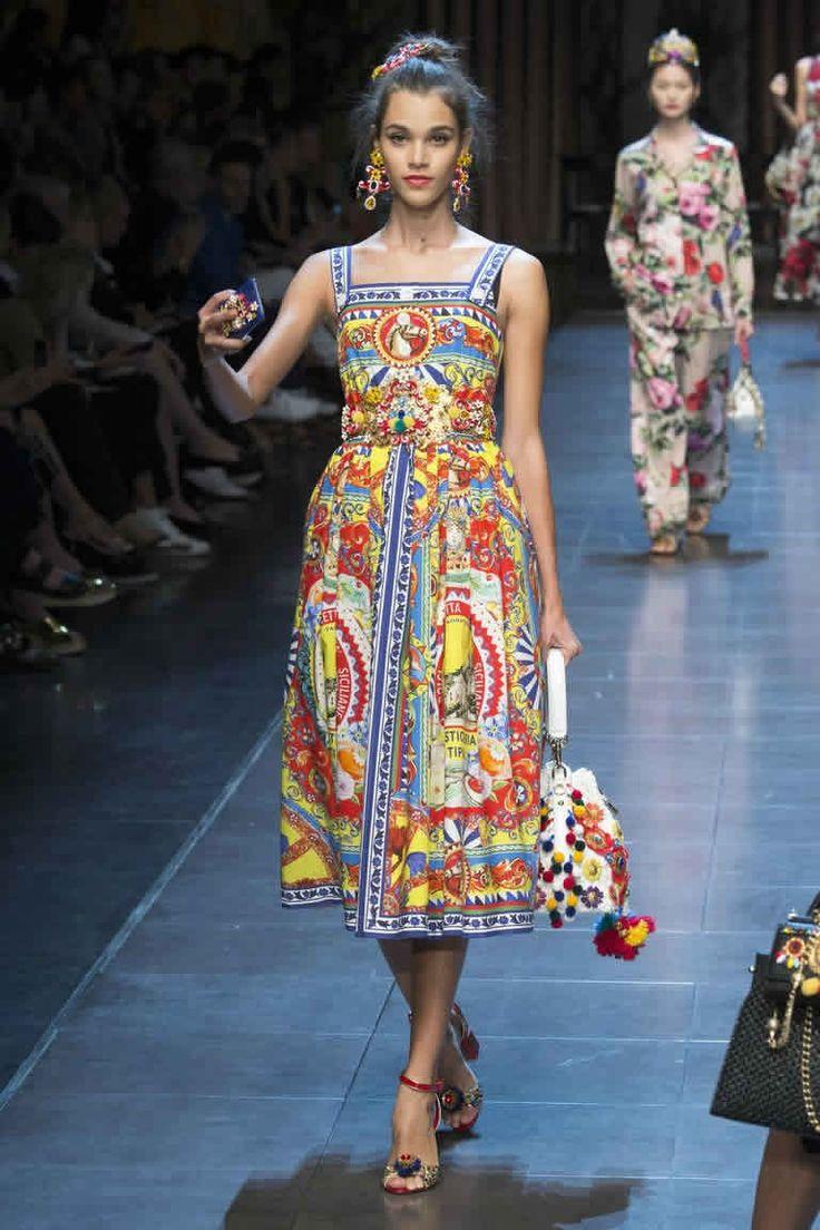 Коллекция Дольче Габбана весна - лето 2016.Модные платья сезона