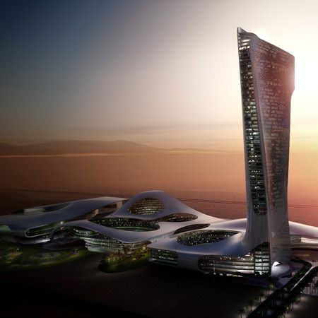 Hotel, conference and exhibition complex in Ras Al-Khaimah, United Arab Emirates by Snøhetta