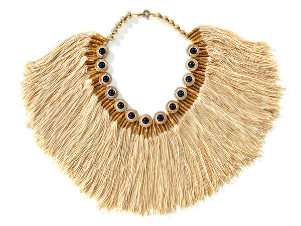 Valliyan by Nitya silk tassel necklace,