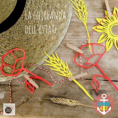 Flowers+paper+cut+per+una+ghirlanda+estiva #summergiftparty