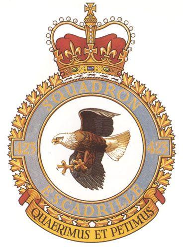 423 Squadron Badge - The Canadian Navy - ReadyAyeReady.com