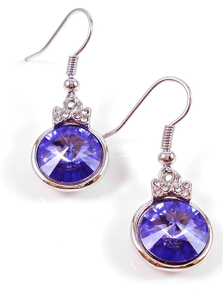 Gorgeous purple crystal earrings.