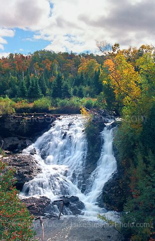 Photos, pictures, images of waterfalls in the Upper Peninsula of Michigan