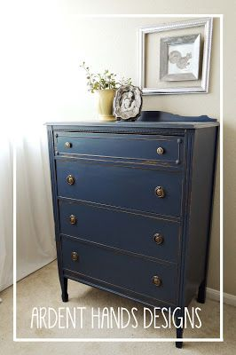Best 25 navy dresser ideas on pinterest baby boy for Navy blue painted furniture