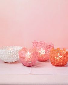 How to Make Lacy Votive Holders