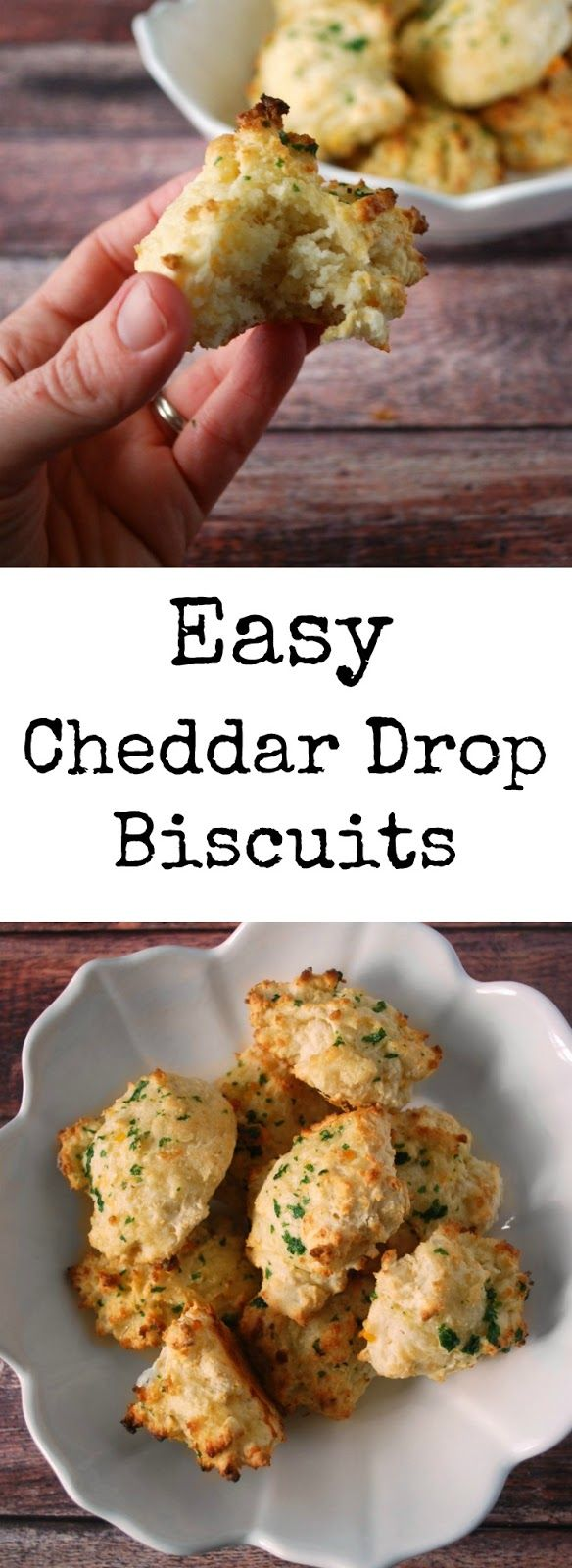 Easy Cheesy Drop Biscuits | Recipe | Cheddar, Make your ...