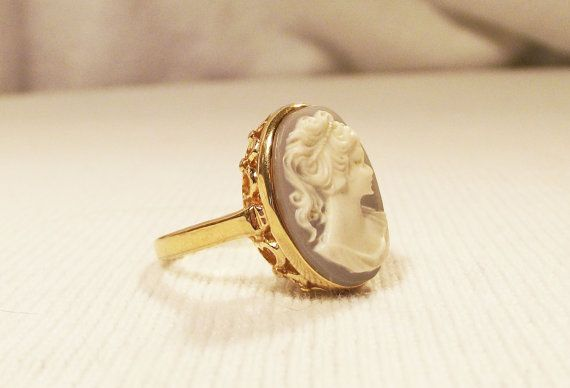 This cameo ring reminds me of the ring that my grandmother passed down to me, except this one looks like it was made more recently. Mine is a bit more delicate.