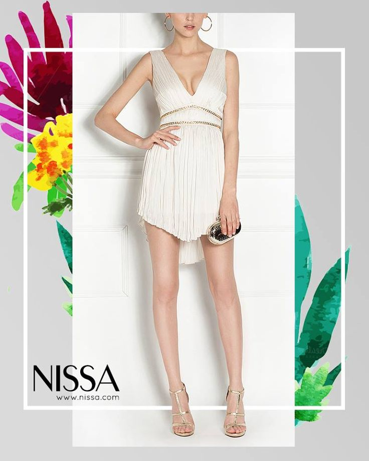 #nissa #evening #style #dress #glam #short #mini #white #fashion #fashionista #look  http://nissa.com