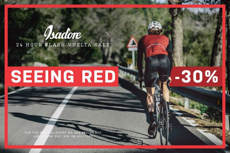 We have been celebrating Peter Velits's Vuelta a Espana Leader's Jersey, for the past 12 hours, with our 24 HOUR SEEING RED -30% FLASH VUELTA SALE. If you still haven't enjoyed the -30% discount on ALL TOPS, including Jacket and Vest, you still have 12 hours left to do so. This offer will end 10AM Monday 24th. August 2015.