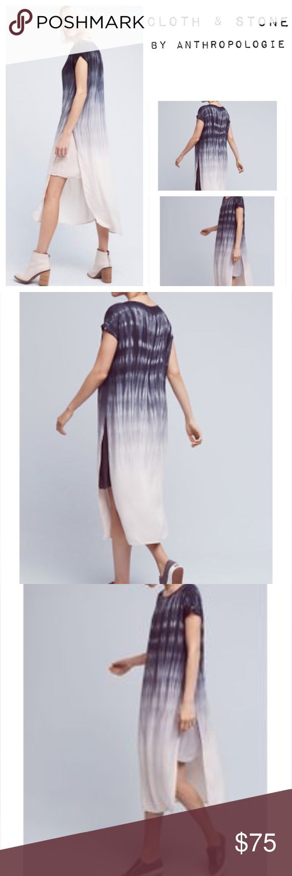 Cold & stone by anthropology tie dye fade dress Nwt long shirt stone & cold by anthropology dress with cool tie dye design. Very versatile, wear it alone or with leggings to change up the look. Petite size small. Non stretch cold & stone by anthropology Dresses