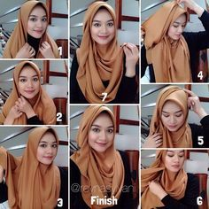 This beautiful Hijab look can be made using silk or any hijab material as long as it's a maxi scarf, Silk ones would look nice for an evening look as they sparkle with the lights, but for a day…