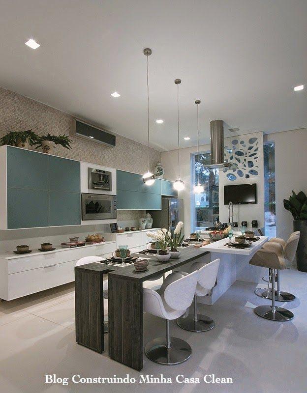 Cozinhas Decoradas com Azul! Maravilhosas!!!