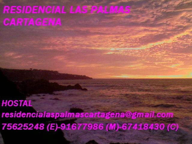 Ocaso desde la Terraza de la Playa Chica de Cartagena