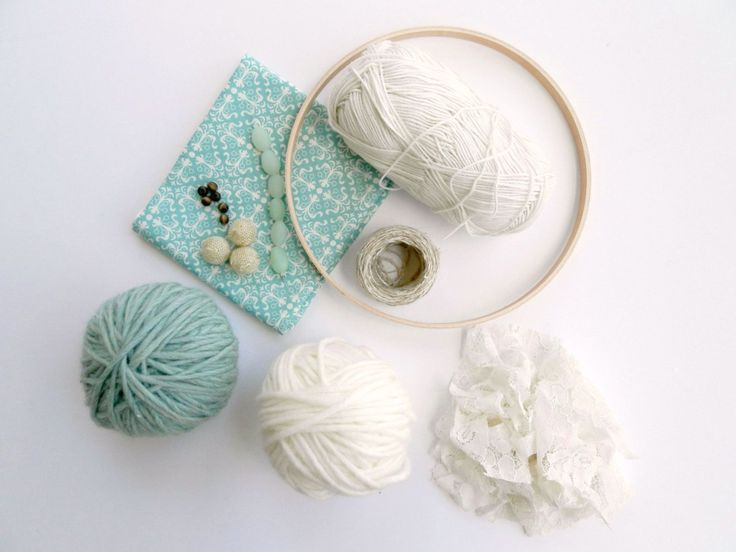 DIY Crochet Dream Catcher Supplies