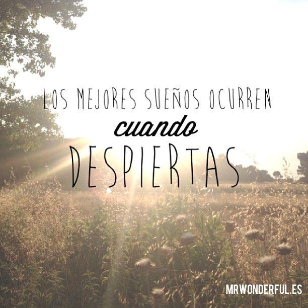 Los mejores sueños ocurren cuando despiertas. -Mr.Wonderful
