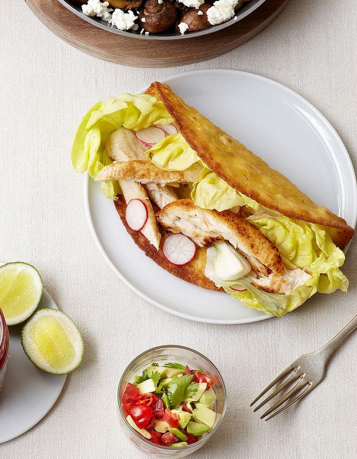 Tacos de poulet aux radis pour 6 personnes - Recettes Elle à Table