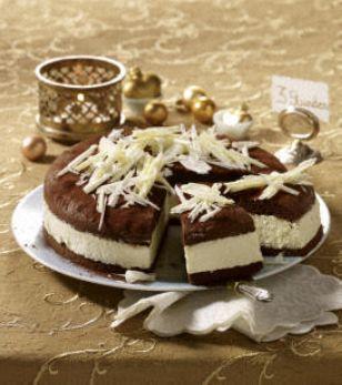 Weiße Lebkuchen-Schokoladen-Torte