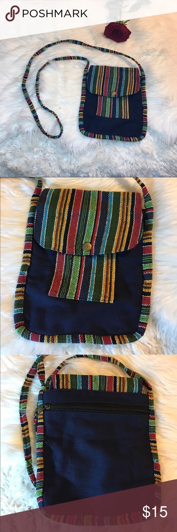 Bohemian festival cross body bag -Good condition!  -Pre loved item -I do not accept offers in the comments so please make all reasonable offers using the offer button only. :) -NO TRADES  -NO HOLDS 🚫 -I ship every Monday, Wednesday and Friday  -All items are hand washed before they are shipped out   💕Instagram- allisonsbeautyboutique 💕 Your purchase is going to help me graduate community college with as little debt as possible. Thank you! Vintage Bags Crossbody Bags