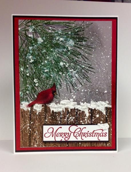 More Merry messages, ornamental pine, hardwood stamp: SU!,  by jandjccc - Cards and Paper Crafts at Splitcoaststampers