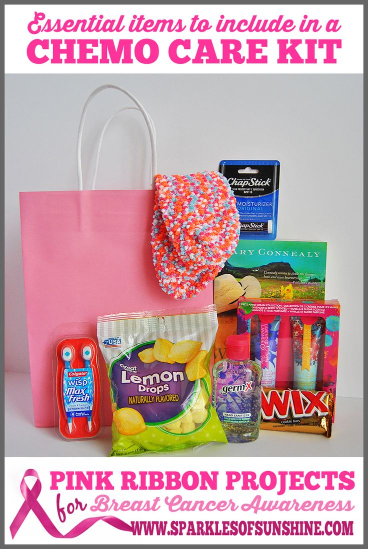 The perfect gift for a cancer fighting friend is a chemo care kit. What should you include in a chemo care kit? Find out at Sparkles of Sunshine!