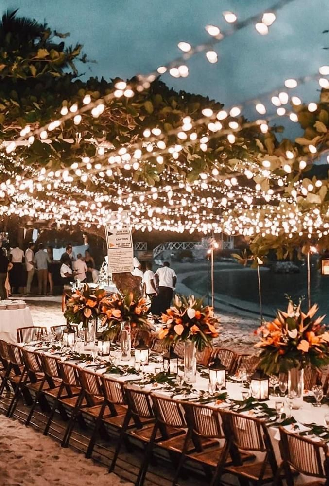 30 Whimsical Wedding Decor Ideas Wedding Forward Wedding Reception Lighting Wedding Lights Beach Wedding Reception