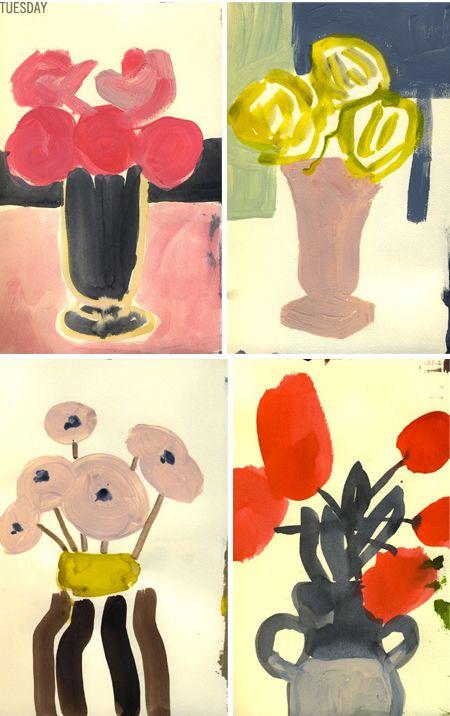 leanne shaptonCuratorpaint Art, Colors Flower, Curatorpaint Painting, Rosey Posey, Fresh Flower, Leanneshapton2 Rosey, Art Painting, Floral, Curator Painting Art