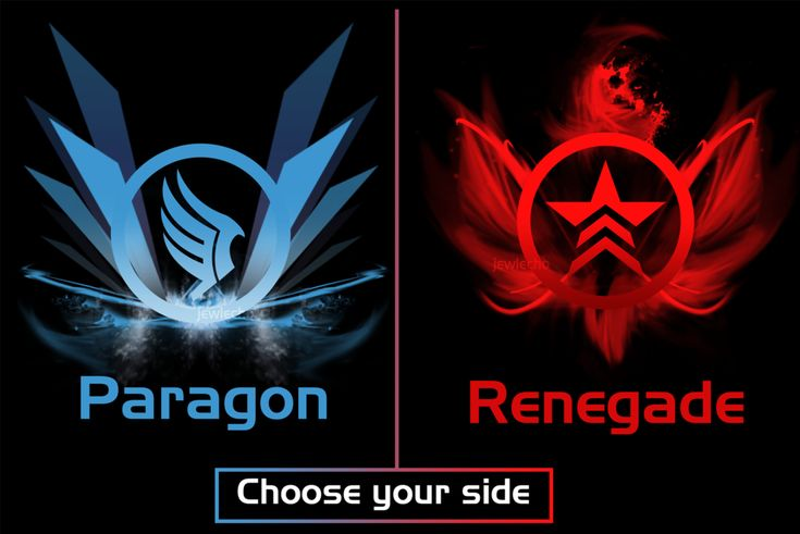 Mass Effect Renegade Option | Mass Effect Paragon Symbol