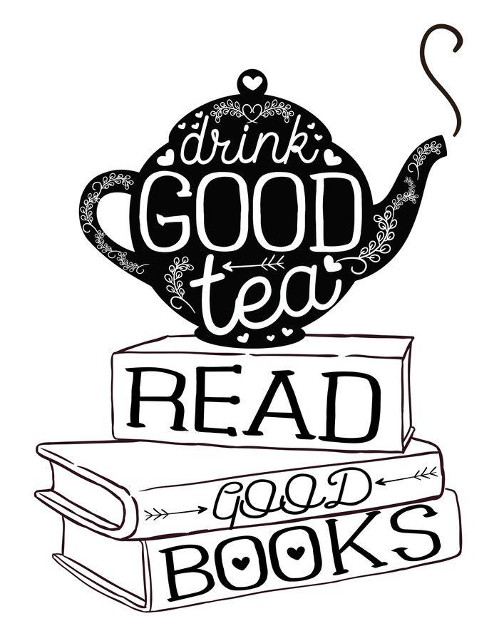 Drink Good Tea, Read Good Books Art Print by Evie Seo | Society6
