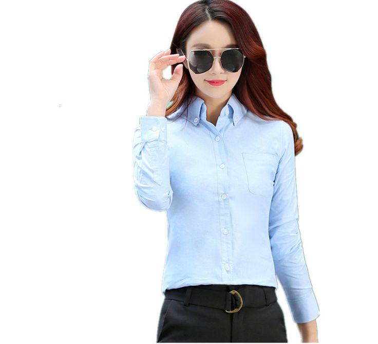 >> Click to Buy << Hot sale 100 Cotton 2017 Spring Summer Women Casual Oxford Blouse Women Summer Top blouse Female Shirt Blusa M-3XL Plus 2017027 #Affiliate