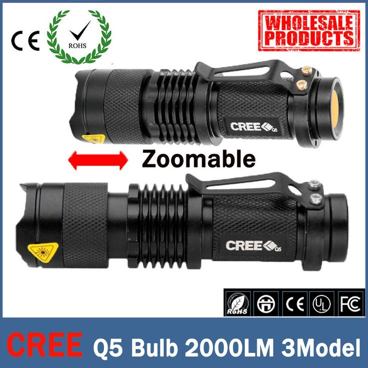 Mini LED lampe de Poche ZOOM 7 W CREE 2000LM Étanche Lanterna LED 3 Modes Zoomables Torche 3.7 V AA 14500 batterie lampe de poche led