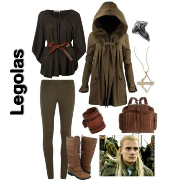 lord of the rings inspired outfit ~ legolas. the hood would be good to use for an everyday Aragorn outfit