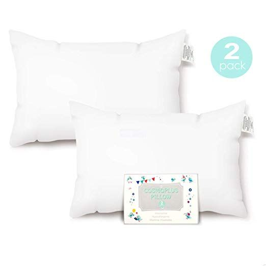 100/% Cotton Exterior 14 x 19 Sable Baby Toddler Pillow for Sleeping with Premium Fiber Oeko-Tex 100 Certified for Newborns /& Infants Prevents Flat Head Syndrome White Contour Design