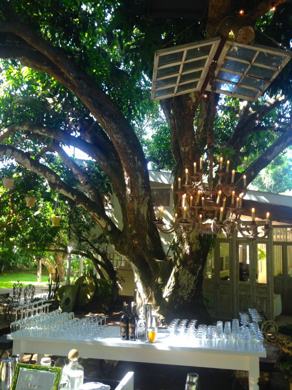 Beautiful wedding in maui chandeliers