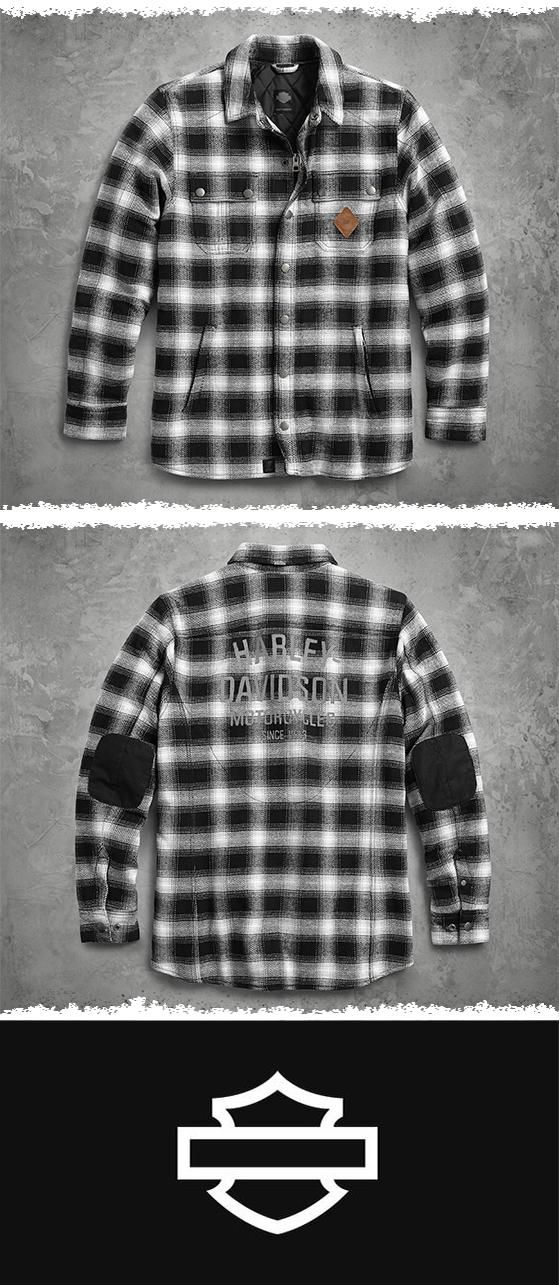 Functional. Transitional. Formidable. | Harley-Davidson Men's Reinforced Slim Fit Riding Shirt Jacket