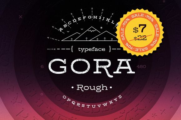 Gora Rough -70% discount by Russian Fonts on @creativemarket