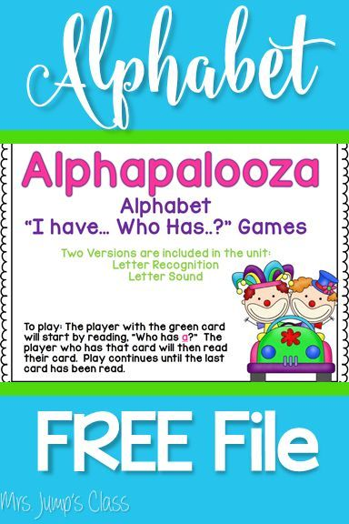 Alphabet FREE file to use for kindergarten or first grade. Fun activity to strengthen letter sounds and phonemic awareness!