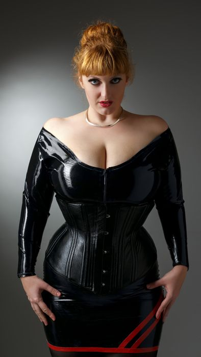 amateur bbw latex leather - Leather corset and latex outfit by Skeletons in the Closet Photo by Mark M