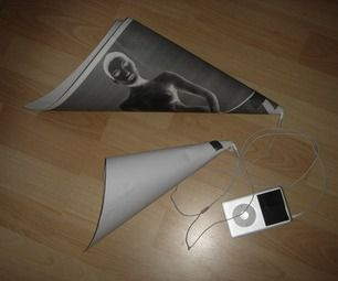 Low-cost portable speakers & 'amp' for the iPod (non-electronic megaphone)